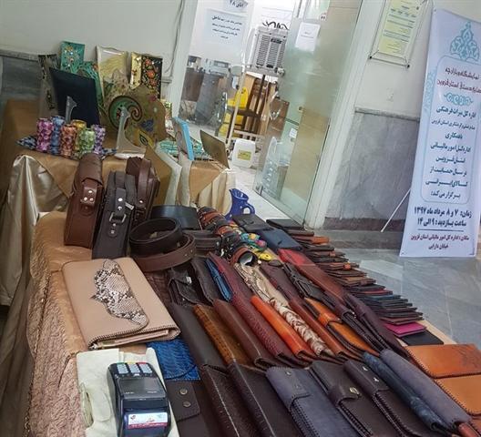 برپایی نمایشگاه صنایع دستی در اداره کل امور مالیاتی استان قزوین
