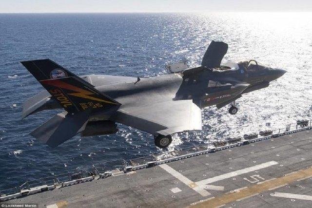 یک جنگنده اف35 تفنگداران ویژه دریایی آمریکا سقوط کرد