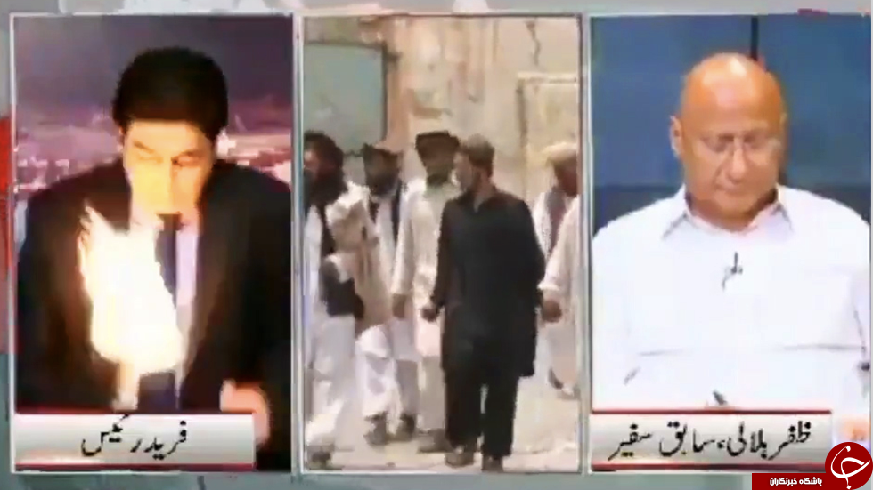 حمله به گوینده خبر حین گفتگوی زنده تلویزیونی!