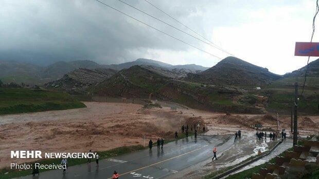 احتمال سیلابی شدن مسیل ها در استان های یزد، کرمان و قم