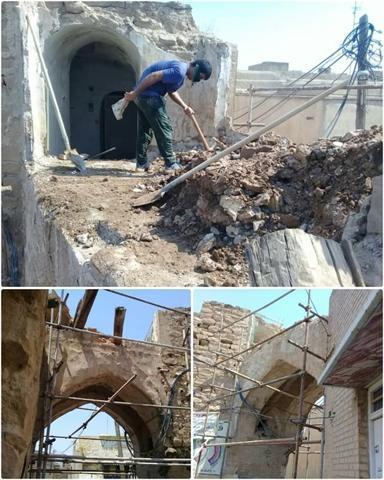 مرمت ساباط تاریخی پاپهن در خوزستان شروع شد