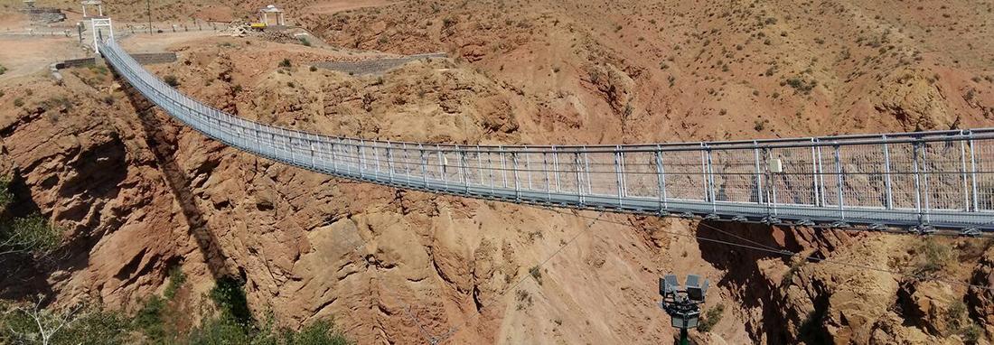 راه اندازی نخستین پل معلق شرق کشور در فیروزه ، ویژگی های نخستین پل معلق خراسان شمالی