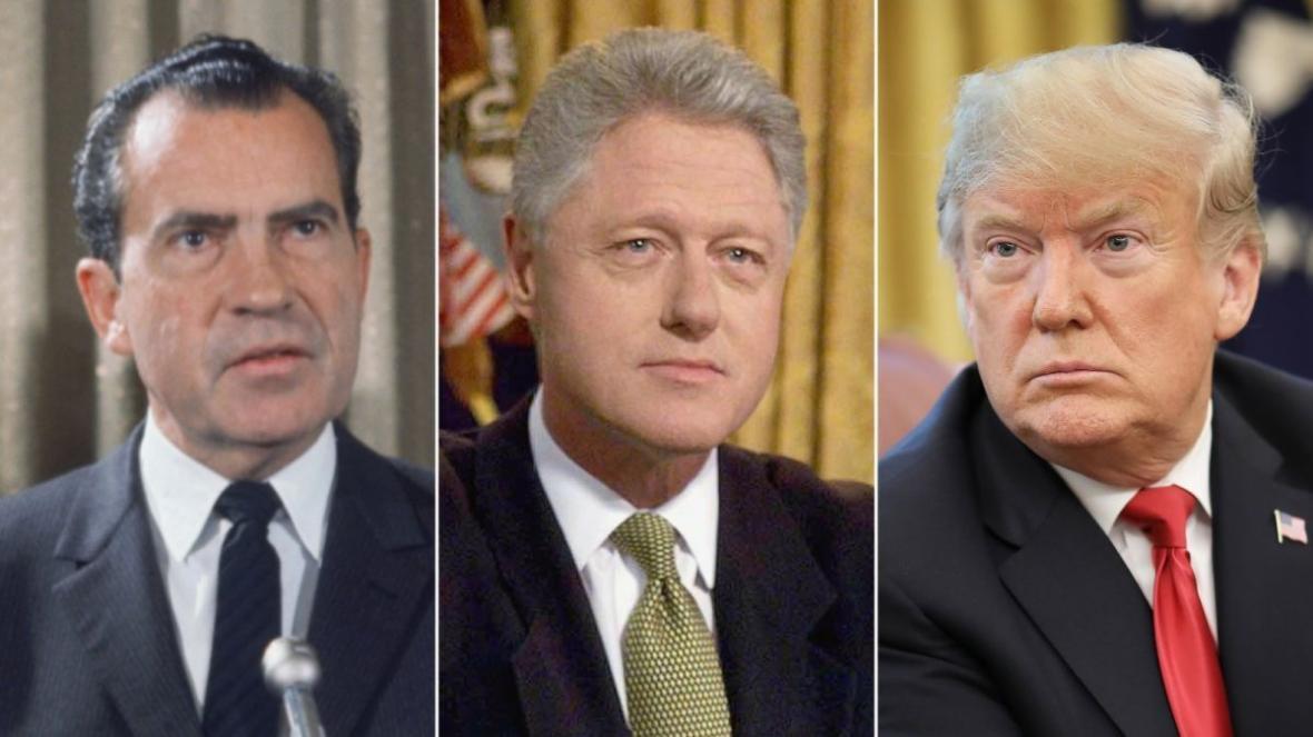 ترامپ در استیضاح از کلینتون و نیکسون پیشی گرفت