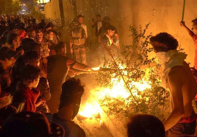 حمله اغتشاشگران به کنسولگری ایران در نجف اشرف