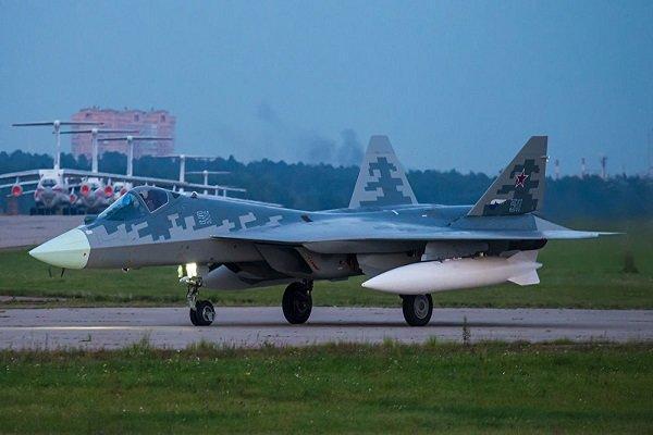 جنگنده سوخو-57 روسیه سقوط کرد