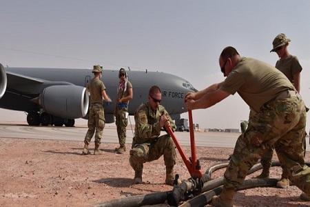 پایگاه هوایی سعودی سوختگیری سریع تانکرهای سنتکام را مهیا کرد