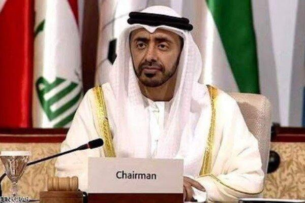 وزیر خارجه امارات وارد پایتخت عمان شد