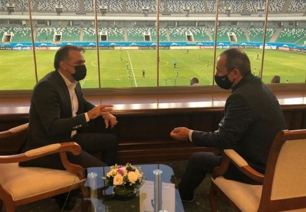 دیدار ماجدی با دبیرکل فدراسیون فوتبال ازبکستان